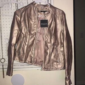 Rose Gold leather jacket